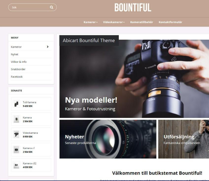 Plattform för att bygga webshop